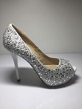 Ladies Shoes High Heel Sparkle Shoes Size8 By Jeff Bains New Free Delivery