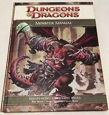 Dungeons & Dragons Monster Manual HC 2008 4th edition WOTC