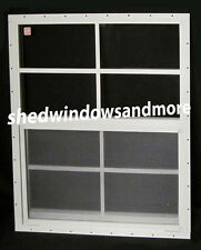 Shed Window 24 x 27 SAFETY GLASS White Flush Playhouse Treehouse Chicken Coop