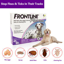 FRONTLINE PLUS for Dogs (45-88 lbs) Flea&Tick Treatment Tick Control 6 doses