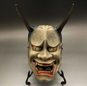 Japanese Vintage Hannya Mask / Noh Kagura Bugaku Temple oni B-35