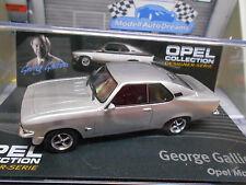 OPEL Manta A GT/E Coupe George Gallion silber 1974 IXO Altaya S-Preis 1:43