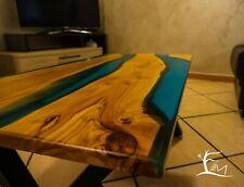 Tavolino da caffè e salone in Legno e Resina