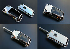 CHROME PORSCHE Remote Flip Key Cover Case Trim Shell Cap Fob Protection Hull -