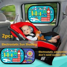 2x for Nissan Car Window Electrostatic Sun shade Visors reduce Glare child baby