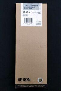 Genuine Epson T5659 Light Light Black Ink Cartridge Pro 4800