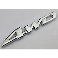 Universal 3d Silver 4wd Chrome Emblem Badge Auto Stickers Decal Car Accessories Fits 2005 Kia Amanti