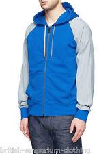 MARC JACOBS Orange & Blue Cotton & Linen Zipped Hoodie Made In ITALY BNWT Medium
