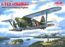 POLIKARPOV I-153 CHAIKA - WW II SOVIET FIGHTER 1/72 ICM BRAND NEW