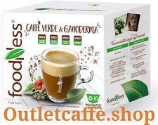 100 Capsule Caffè VERDE e GANODERMA FoodNess Compatibili Doilce Gusto No Glutine