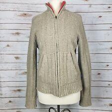 Abercrombie & Fitch Beige Wool Blend Knit Cardigan Zip Sweater Womens Size M