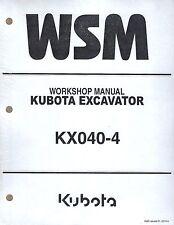 Kubota KX040-4 Workshop Service Repair Manual RY911-21761*