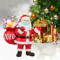 Christmas Tree Ornaments 2020 Santa Wearing Mask Hanging Peadant Decor
