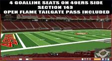4 SF 49ers Tickets Oakland Raiders 11/1 Levi's Stadium LOWER + VIP Green Parking