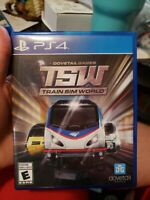 Train Sim World TSW Sony Playstation 4 PS4 - No Manual - Tested