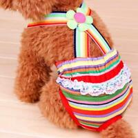 Female Puppy Pet Dog Striped Suspender Braces Sanitary Panty Diaper Size XXS-XL