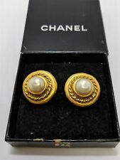 Vintage Chanel Pearl Earrings - Clip On Earrings - Made In France - Box Included