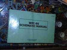 Pinball A3 Large Format WPC 95 Schematics Original Manual Williams Flipper