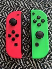 Nintendo Switch Joy Cons Neon/ Green and Pink / Joycons / Splatoon / Mario
