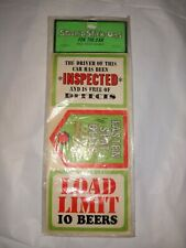 Vintage STOOPID STICK-ONS STICKERS for your Car AMERICAN GREETINGS sealed pack