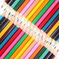 12Pc CHILDRENS COLOURED PENCIL PACK School Class Stationery Kids Art Craft Sets