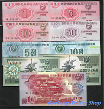 Lots of 9 Pcs of King Korea Foreign Currency Exchange Banknote/Paper Money/ UNC