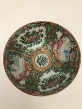 """3-1/4"""" SMALL VINTAGE CHINESE PORCELAIN ROSE MEDALLION Trinket Bowl Cup Pre 1940s"""