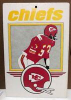 Rare Vintage 1974 Kansas City Chiefs Cardboard Sign NFL FLEER BIG 8x11.5