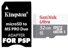 32GB MEMORY STICK PRO DUO ADAPTER FOR PSP 3001 3000 2000 1000 E1000 E1001 E1003
