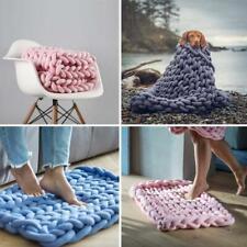 New Bulky Arm Knitting Wool Chunky Wool Yarn Soft Roving Crocheting Blanket `