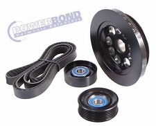 POWERBOND 20% UNDERDRIVE BALANCER BELT & PULLEY FOR BA BF FG 6CYL 4.0L XR6 TURBO