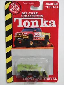 MAISTO TONKA #05 OF 50 DIE CAST METAL FRONT END SHOVEL GREEN W+