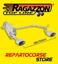 RAGAZZON TERMINALE SCARICO SDOPPIATO 135x90mm ALFA MITO 1.3 JTDm 66kW 90cv 09/08
