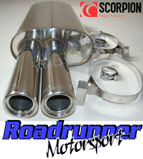 Scorpion SBMB002 BMW 325 E30 85-88 Back Box Stainless Exhaust Inc Cab & Touring