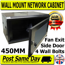 "19"" 450mm Black 6U Data Rack Power Distribution Unit PDU LAN Data Cabinet Switch"