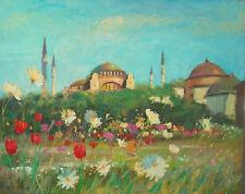 """Listed Nino Pippa Orientalist Painting Agia Sophia Turkey Seago Interest 24""""X30"""""""