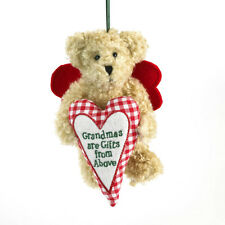 "BOYDS CHRISTMAS ORNAMENT PLUSH BEAR-5"" GRAMMYKINS w/GIFT FROM ABOVE HEART NEW/11"