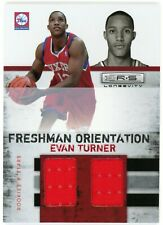 New listing 2010-11 Rookies & Stars Longevity Evan Turner Freshman Orientation Jersey 51/299