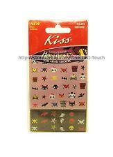 KISS Limited Edition NAIL ARTIST Stickers/Decals HALLOWEEN Skulls+Cat+Bat #55424