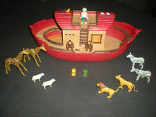 LOT PLAYMOBIL ARCHE DE NOE - GIRAFES ZEBRES LIONS MOUTONS SINGES CHATS SOURIS