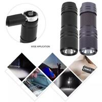 Mini Stainless Steel USB Rechargeable LED Flashlight Torch Lamp Light +Keychain
