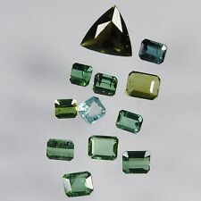 10.1 cts blue green tourmaline mixed facted cut lot afghanistan