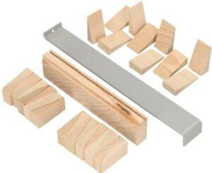Verlegeset für Parkett und Laminat Montagekeile aus Holz Zugeisen Schlagholz