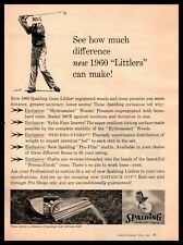 1960 Gene Littler Spalding Hydrosealed Woods ProFlite Shafts Golf Clubs Print Ad