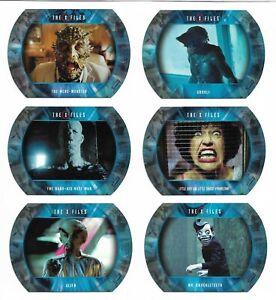 2018 X-Files Seasons 10 & 11 Monsters Aliens & More Complete 6 Card Set M1 - M6
