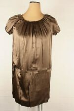 French Connection 100% Silk Dress Gold Sz 8