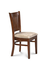 SET OF 6 DINETTE KITCHEN DINING SIDE CHAIRS W/. PADDED SEAT IN ESPRESSO FINISH