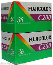 2 x FUJI FUJICOLOR C200 35mm 36exp  CHEAP COLOUR PRINT FILM by 1st CLASS POST