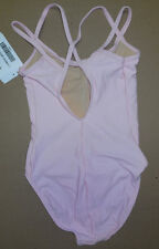 NWT Double Strap Camisole Leotard Ballet Dance Black, Lt Pink or White Adlt/Chld