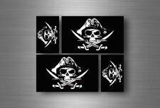 4x adesivi adesivo sticker bandiera vinyl tuning pirata teschio pirati r10